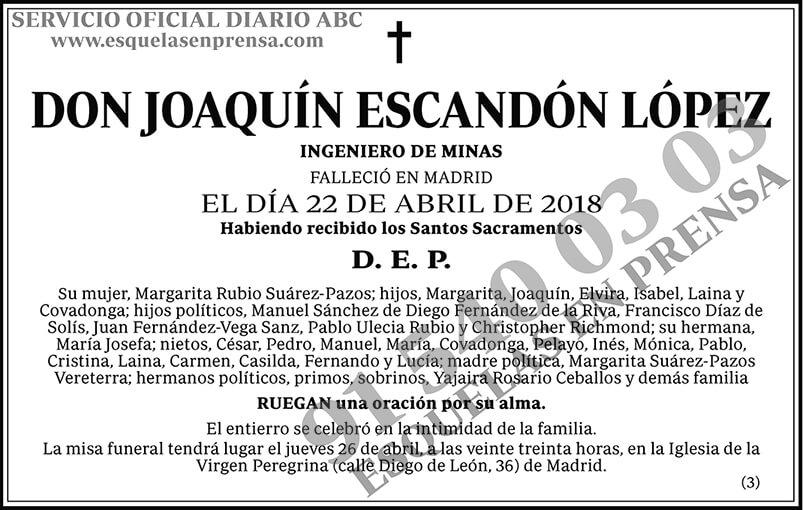 Joaquín Escandón López